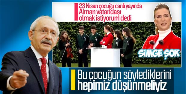 Küçük çocuğun Almanya hayranlığı Kılıçdaroğlu'na soruldu
