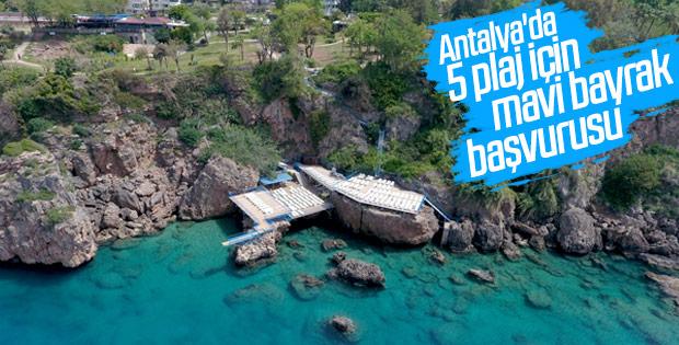 Antalya'daki plajlar için mavi bayrak başvurusu yapılacak