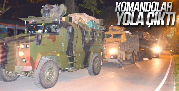 Türk komandoları Suriye sınırında