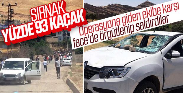 Şırnak'ta kaçak elektrik kontrolüne giden ekibe saldırı