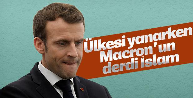 Macron: Siyasal İslam bir tehdittir