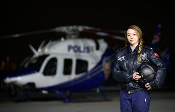 Emniyetin ilk kadın helikopter pilotu
