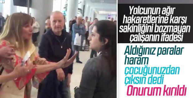 Havalimanında çalışan Tuğçe Selvi'nin ifadesi