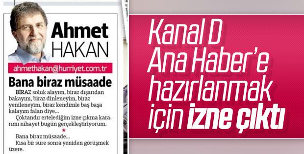 Ahmet Hakan, Kanal D Ana Haber için hazırlık yapıyor