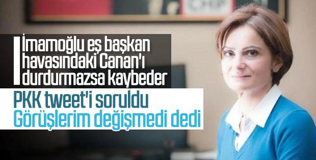 Canan Kaftancıoğlu'na Sakine Cansız tweet'i soruldu