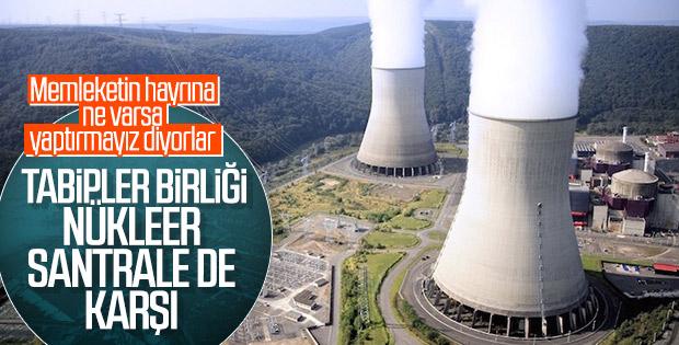 Tabipler Birliği nükleer santrale karşı
