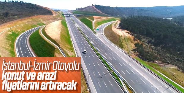 İstanbul-İzmir otoyolu konut fiyatlarını etkileyecek