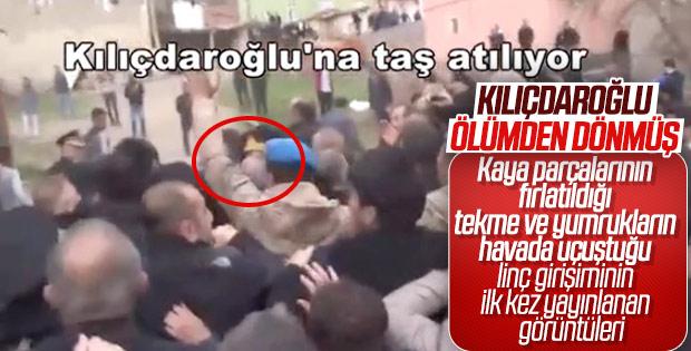 Kemal Kılıçdaroğlu'na yapılan saldırının yeni görüntüleri