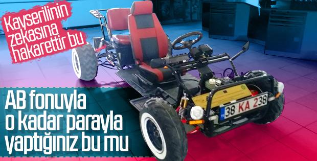 Kayseri Meslek Lisesi öğrencileri elektrikli araba yaptı