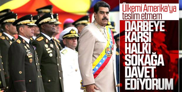 Maduro'dan darbe girişimi ile ilgili ilk açıklama