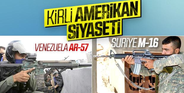 Suriye ve Venezuela'da Amerikan malı silah kullanılıyor