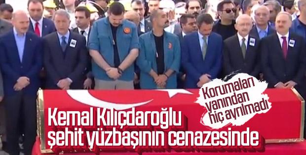 Kılıçdaroğlu şehit Yüzbaşı Özdemir'in törenine gitti