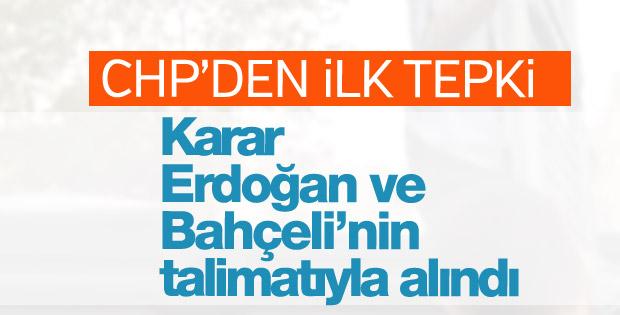YSK kararına CHP'den ilk tepki