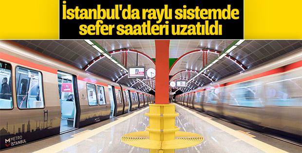 İstanbul'da metro seferlerine Ramazan düzenlemesi