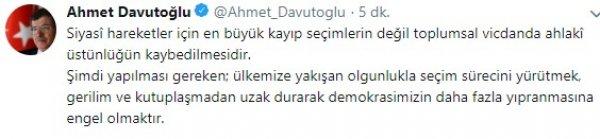 Davutoğlu: Demokrasiyi yıpratmayın