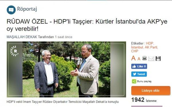 HDP, AK Parti'ye oy verebileceğini açıkladı