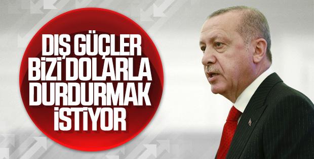 Cumhurbaşkanı Erdoğan'ın döviz yorumu