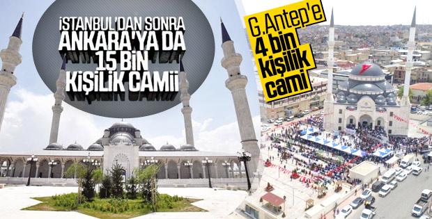 Ankara'ya 15 bin kişilik cami yapıldı