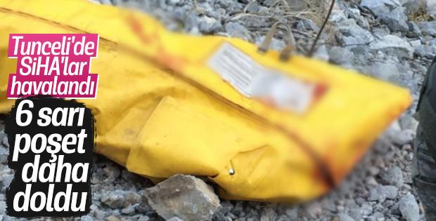 Tunceli'de teröristler SİHA'dan kaçamadı