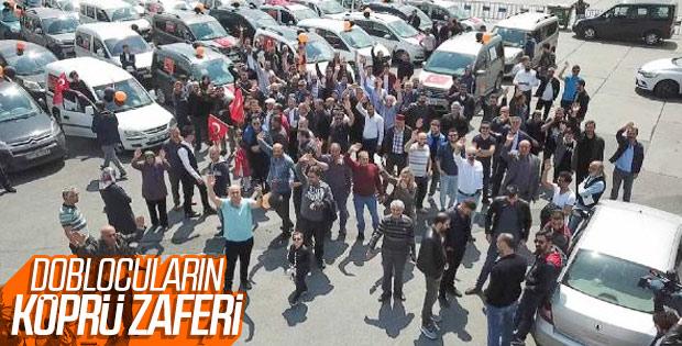 15 Temmuz Köprüsü panelvan ceza mağdurlarından kutlama