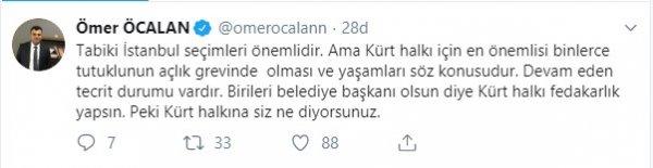 Ömer Öcalan İstanbul seçimleri için fikrini açıkladı