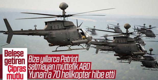 Yunanların ABD'den sipariş ettiği helikopterleri geldi