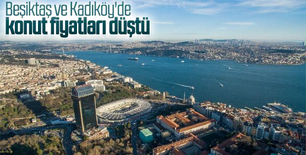 Kadıköy ve Beşiktaş'ta konut fiyatları düştü
