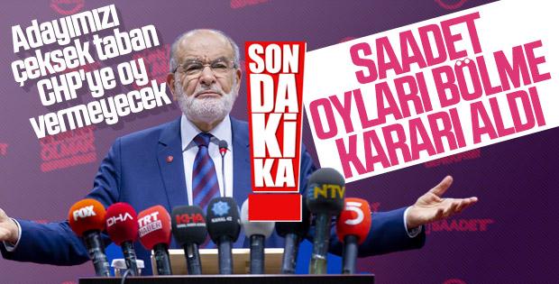 Saadet Partisi 23 Haziran seçimlerine katılacak