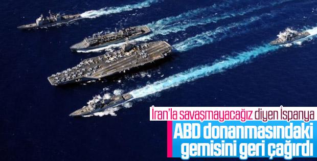 İspanya'dan ABD'ye: İran Körfezi'ne gemimizi sokmayız