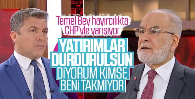 Temel Karamollaoğlu: Yatırımlar durdurulsun