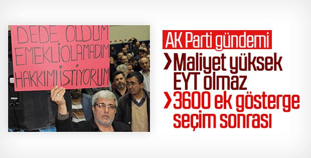 AK Parti önemli yasalar için toplandı