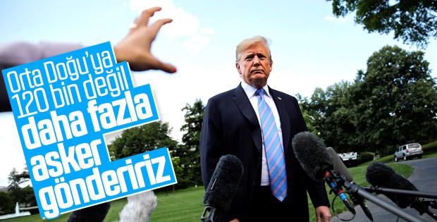 ABD Başkanı Trump asker gönderme haberlerini yalanladı