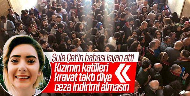 Ankaralılar Şule Çet davası için adliye binasında