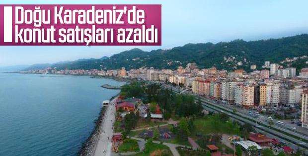 Doğu Karadeniz'de konut satışları düştü