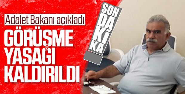Abdullah Öcalan'ın avukatlarıyla görüşme yasağı kalktı