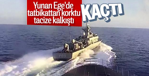 Yunan hücumbotu Türk savaş gemisini tacize kalkıştı