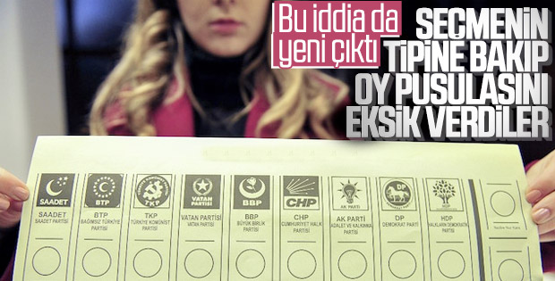 31 Mart'ta seçmene eksik pusula verildi iddiası