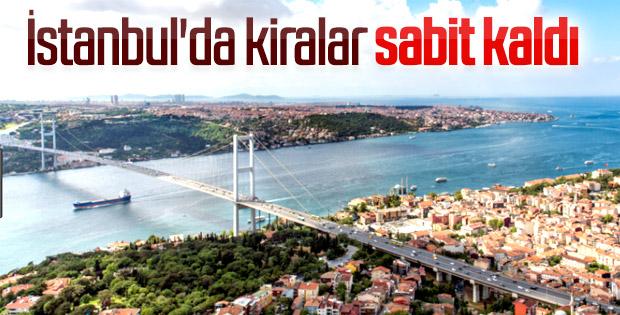 İstanbul'daki ev kiraları aynı kaldı