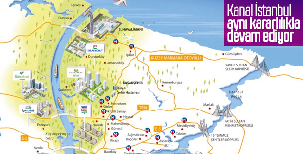 Kanal İstanbul çalışmaları sürüyor
