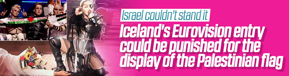 Israeli host expects punishment for Iceland's Palestinian flag