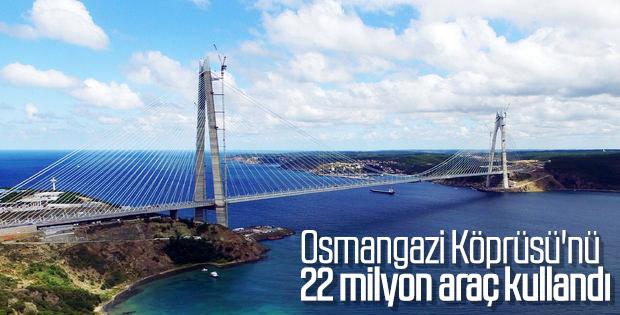 Osmangazi Köprüsü'nden 22 milyon araç geçti