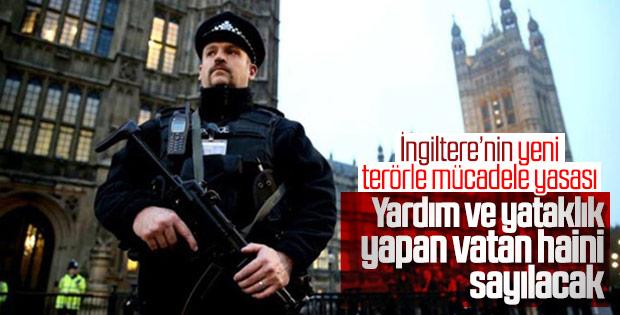 İngiltere terör örgütüne yardım edeni vatan haini sayacak