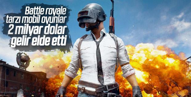 Battle Royale tarzı mobil oyunlar 2 milyar dolar gelire ulaştı