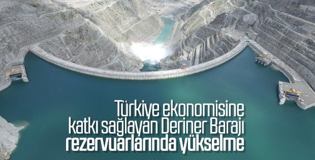 Deriner Barajı'ndan su bırakıldı