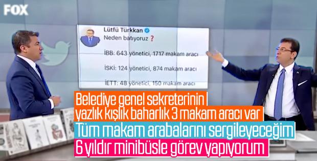 Ekrem İmamoğlu, belediyedeki araçları şikayet etti