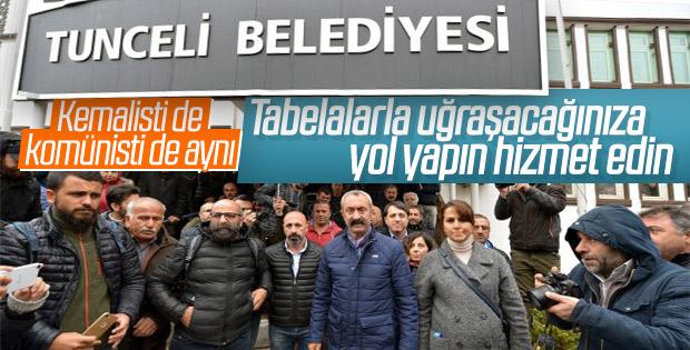 Tunceli Belediyesi'nin tabelası 'Dersim' oluyor