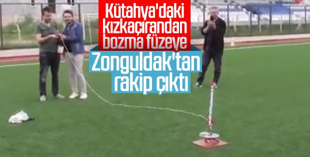Zonguldaklı gençler roket üretti