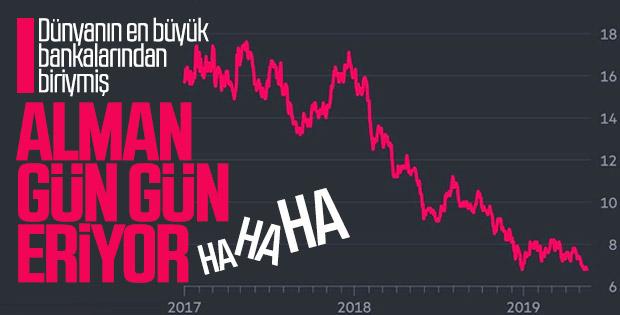 Deutsche Bank'ın hisseleri çakıldı