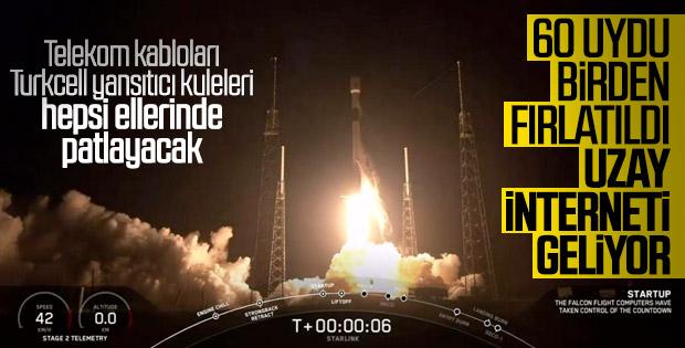 SpaceX uzaya internet uyduları gönderdi
