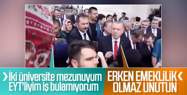 Cumhurbaşkanı Erdoğan'dan EYT sorularına ret cevabı